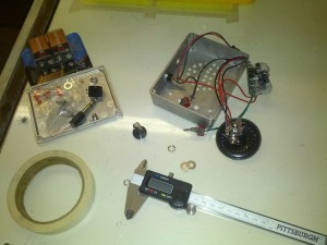 Inside the Pedal amp after drilling