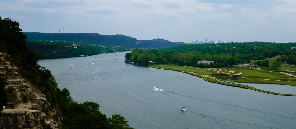 Downtown Austin from the Pennybacker Bridge Overlook